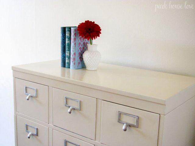 Refinished Stackable Filing Cabinet Remodelaholic