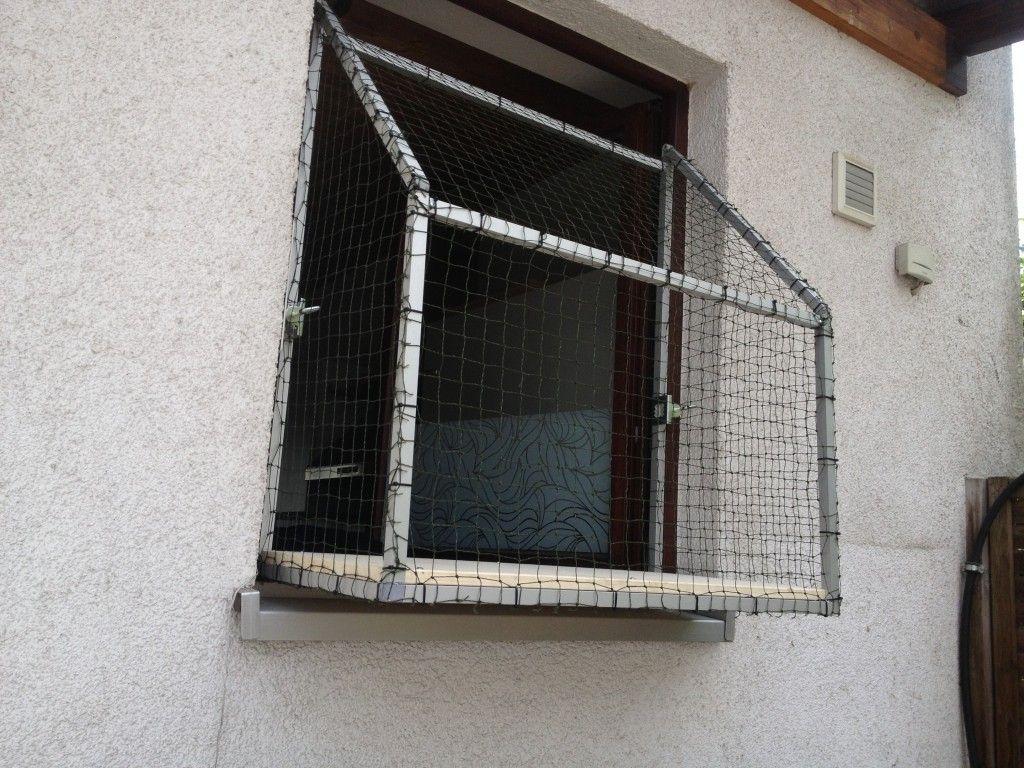 die lösung: der katzenbalkon fürs fenster, von katzennetze nrw
