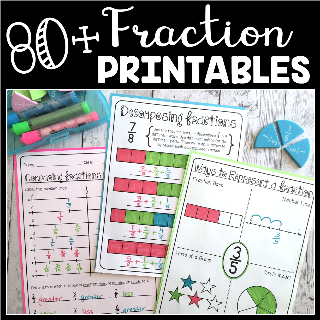 80 Fraction Printables