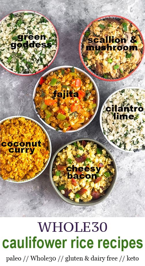 6 Whole30 Cauliflower Rice Recipes (Paleo)