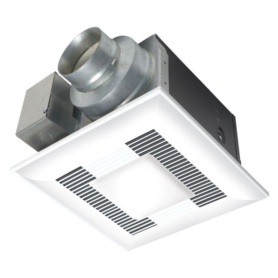 Panasonic 0 5 Sone 110 Cfm White Bathroom Fan With Light Energy