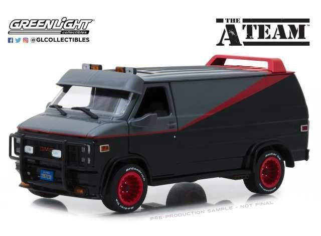 2019 10 A Team Diecast Model 1 24 1983 Gmc Vandura Diecast Model