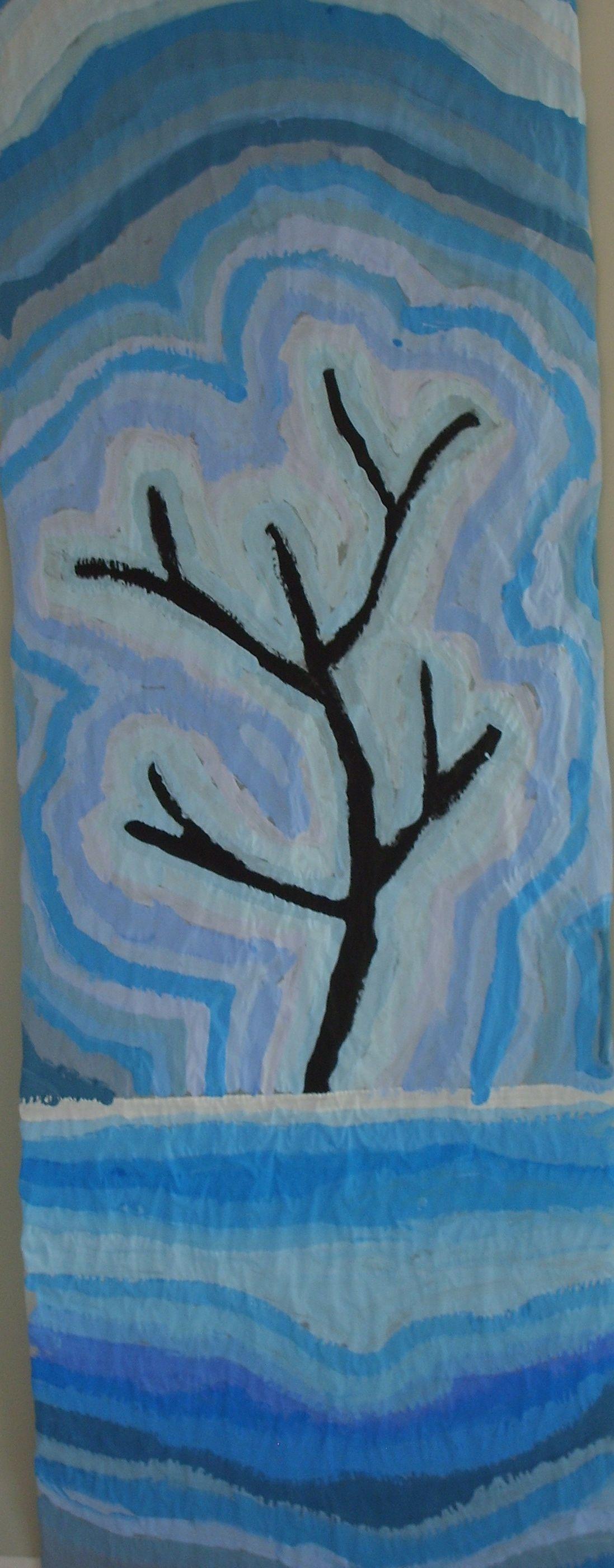 Arbre d 39 hiver arts visuels pinterest hiver arts for Art plastique peinture