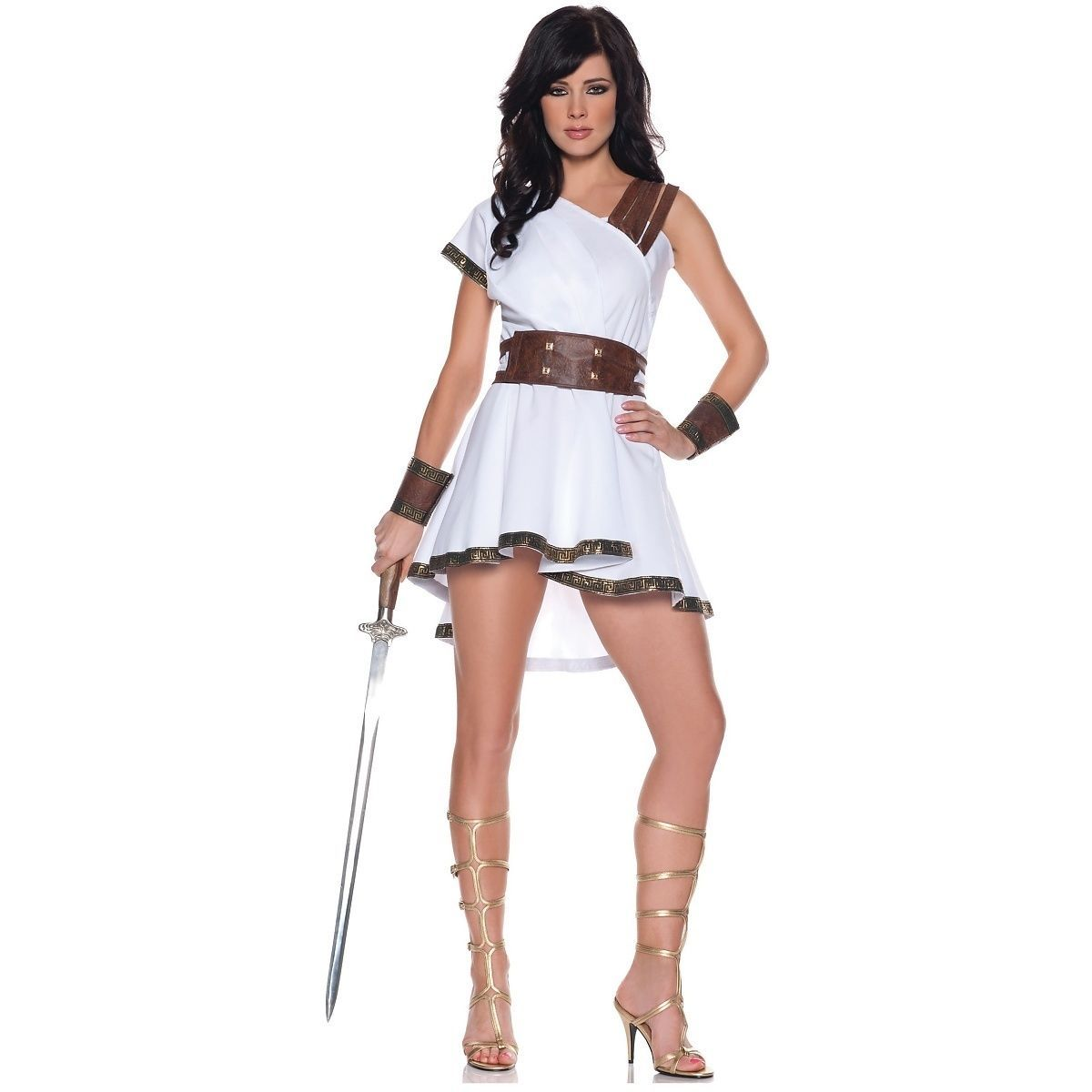f2a3b07514d Olympia Greek Warior Goddess Athena Roman Gladiator Sexy Fancy Dress Costume