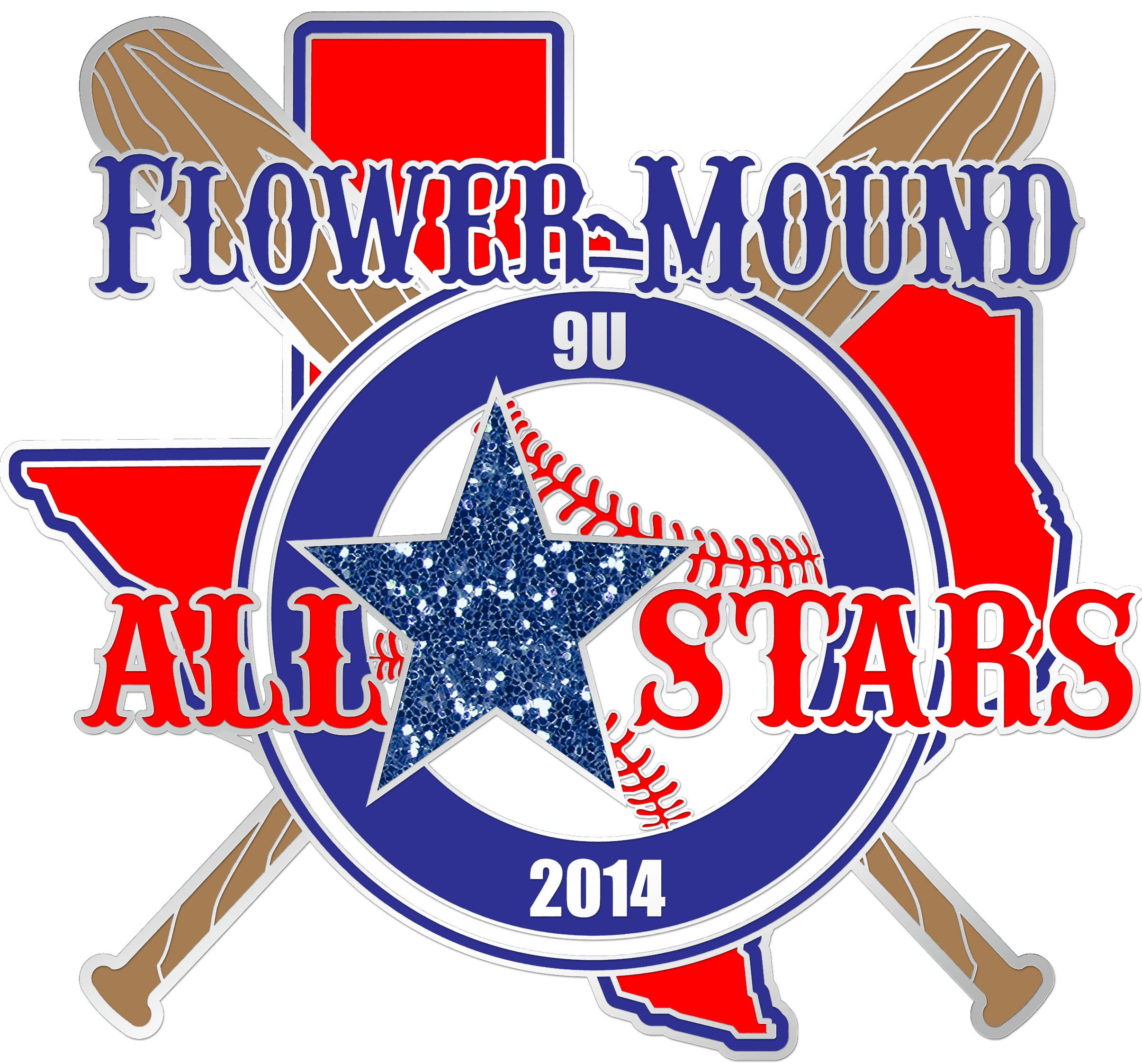 Flower Mound AllStars Baseball Pin Sport team logos