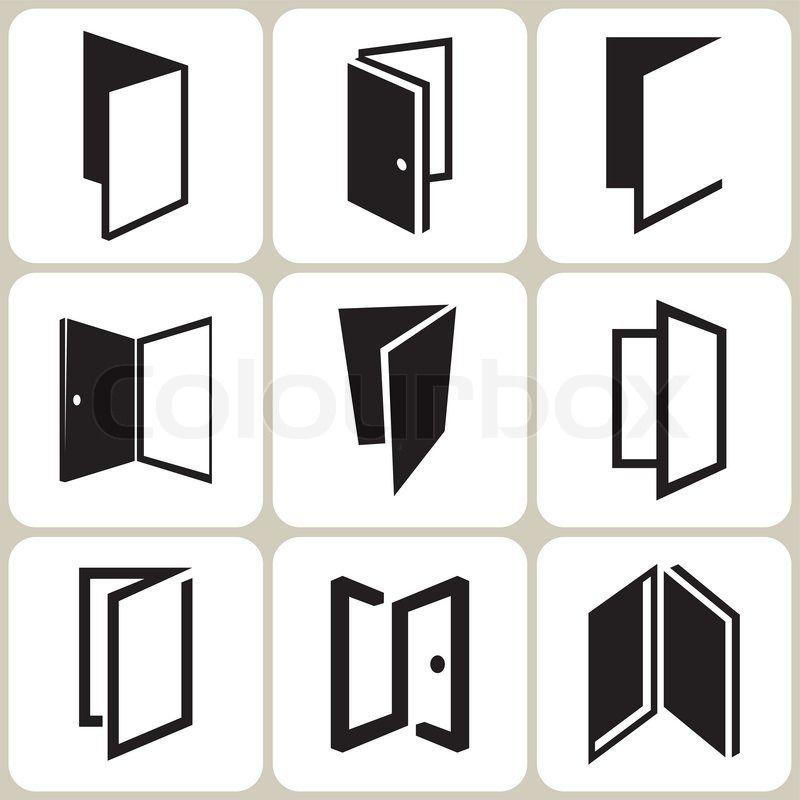 Stock Vector Of 'vector Door Icons Set'