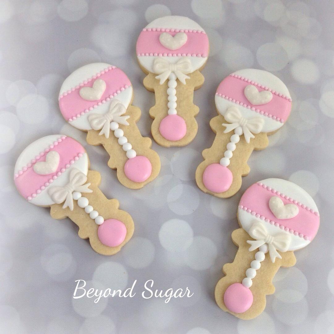 Baby Shower Cookies Favors .. . baby rattle @beyondsugar ...
