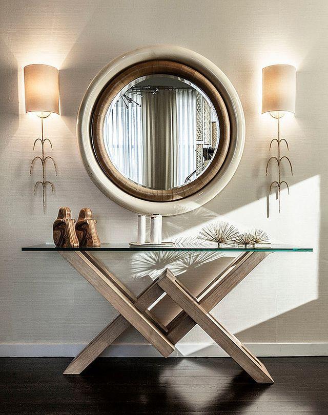 Decora con espejos en 2019 mesas de recibidor for Moderno furniture
