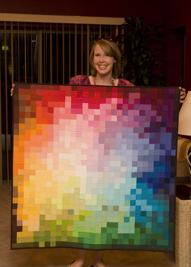 from the blue chair: Kona Challenge--Pixelated Color Wheel