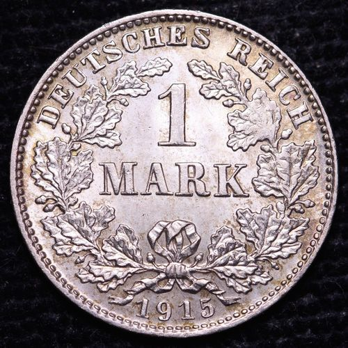 1915 Germany 1 Mark Silver Coin Very Nice! German coins
