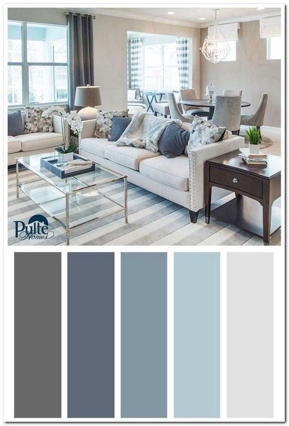 Gamas Y Esquemas De Colores Para Pintar La Sala Moderna Colores Para Sala Comedor Colores De Casas Interiores Pintar La Sala