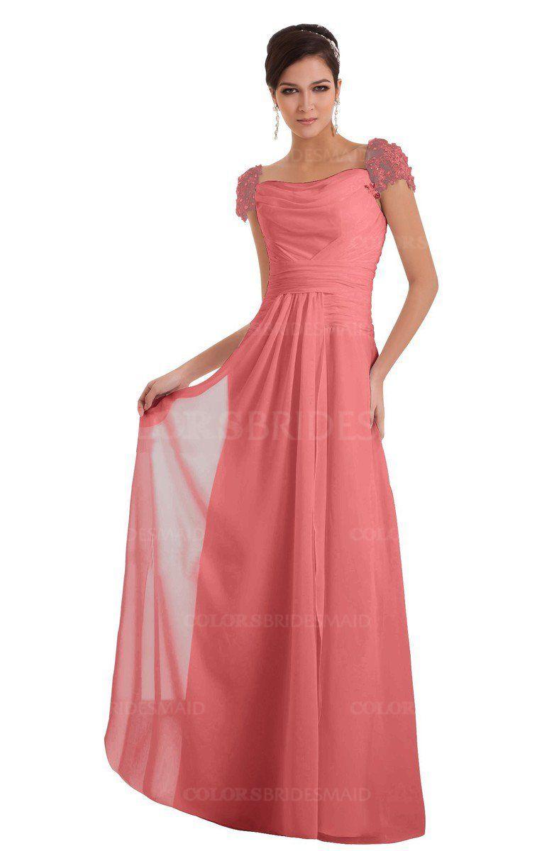 Colsbm carlee coral bridesmaid dresses bug killer pinterest