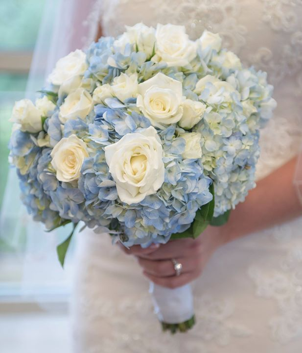 Candice Brown Photography Timeline White Rose Bouquet White Spray Roses Blue Flowers Bouquet