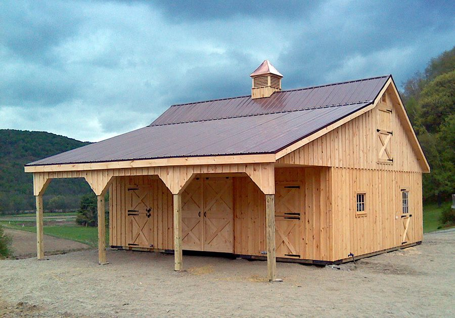 Another horizon structures horse barn this 30x24 pine for Board and batten shed plans