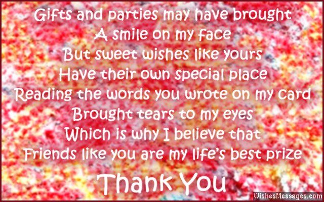 Thank you messages for birthday wishes quotes and notes birthday sweet thank you note for birthday greetings m4hsunfo
