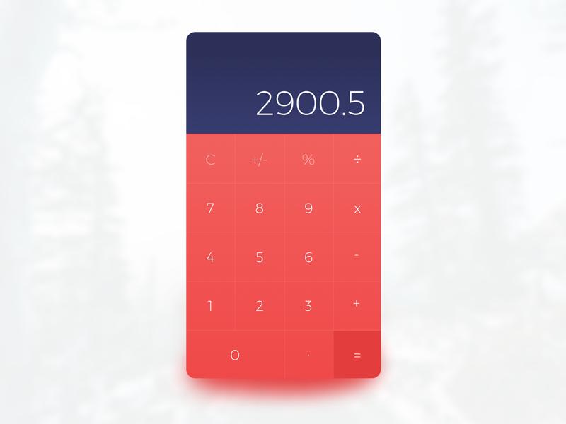 [Freebie] Calculator UI (Sketch) by WORAWALUNS