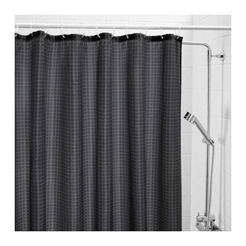 Saxalven Shower Curtain Anthracite 71x71 Shower Curtain Curtains Basic Shower Curtain