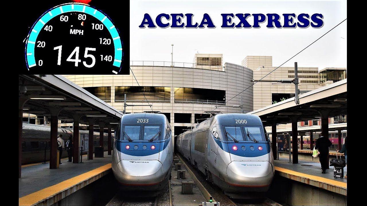 Boston To New York High Speed Journey On Board Amtrak S Acela Express Youtube Acela Amtrak Vacation Usa