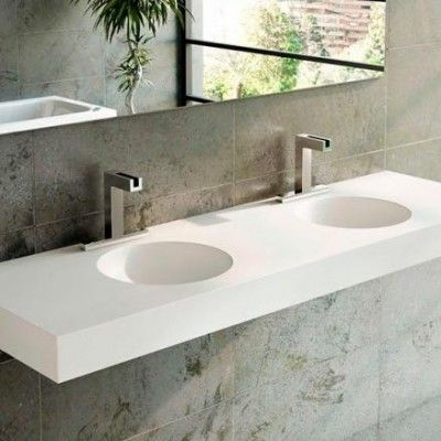Double Vasque en Corian Red Sdb Pinterest