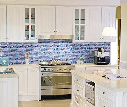 Big Blue Glass Tile Perfect For Kitchen Backsplashes And Showers