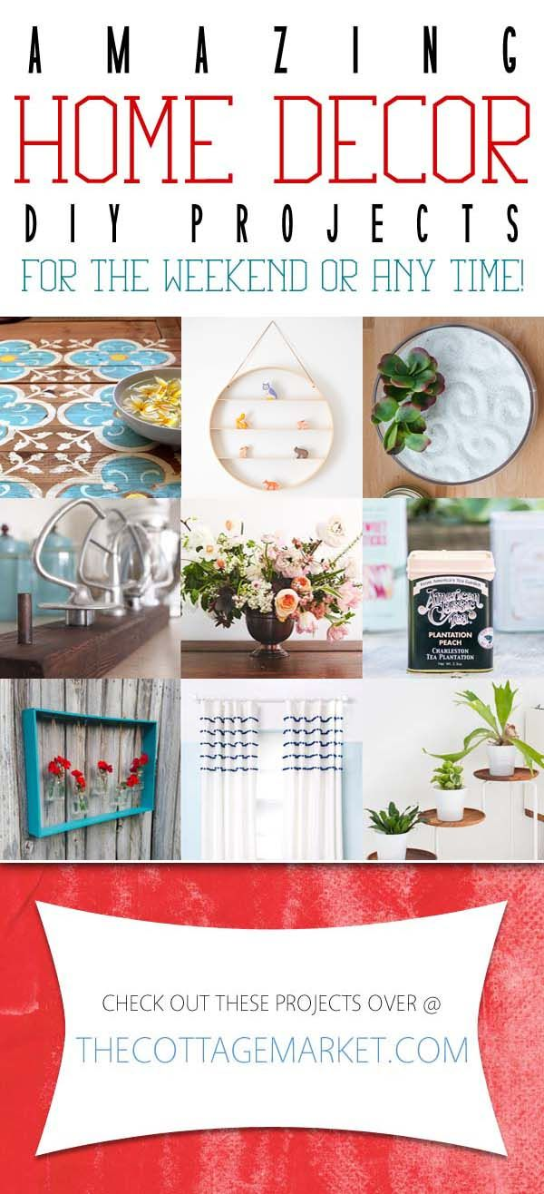 Amazing Home Decor DIY Projects for the weekend or any time | DIY ...