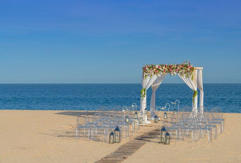 Sheraton Grand Los Cabos Hacienda del Mar - Wedding Ceremony at De Cortez Beach at Daytime