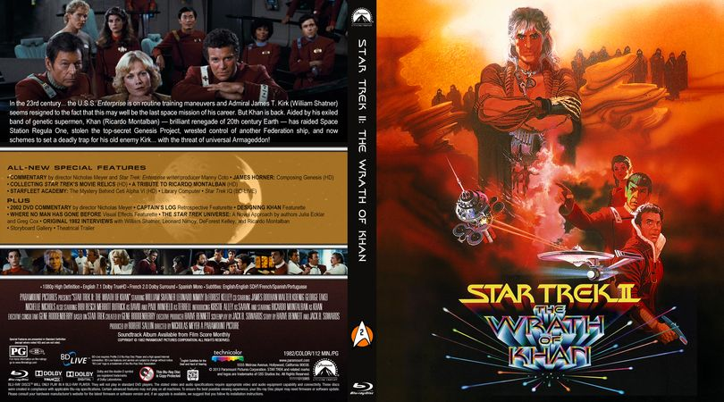 star trek ii  the wrath of khan blu