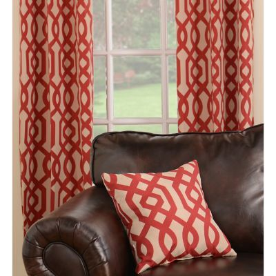 Red Gatehill Curtain Panel Set, 84 in | Beautiful curtains, Living ...