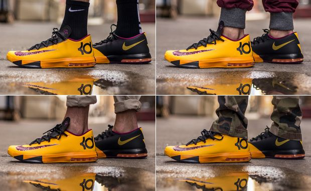 "7a7e714d91f7 On-Foot Look  Nike KD VI ""Peanut Butter   Jelly"""