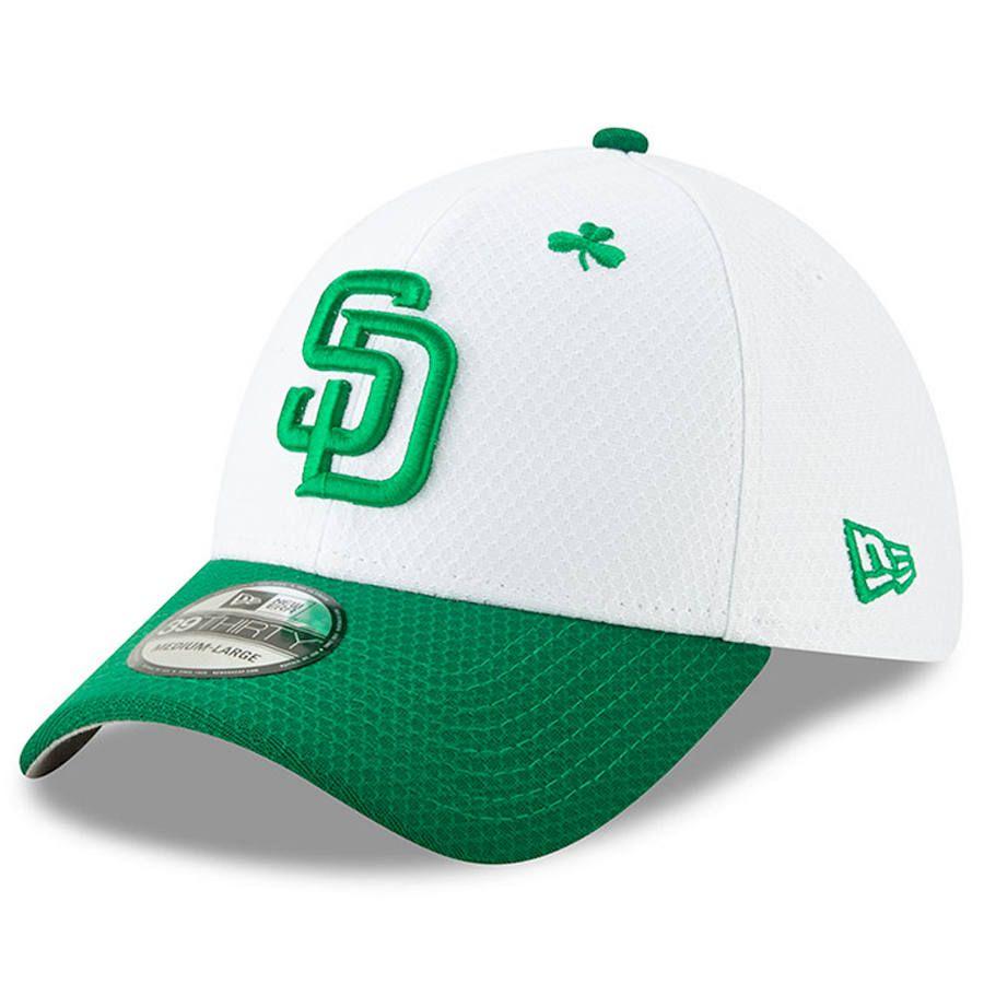 brand new 1f4ac ced83 Men s San Diego Padres New Era White Kelly Green 2019 St. Patrick s Day  39THIRTY Flex Hat,  35.99