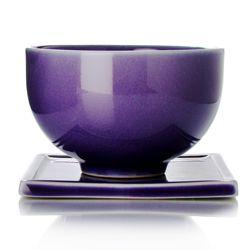 purple porcelain tea cup & saucer