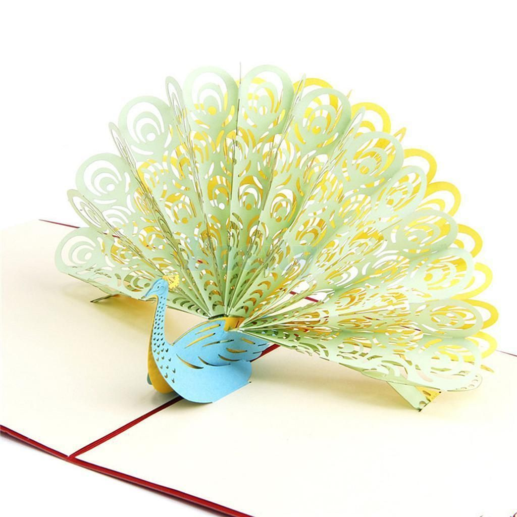 3d Pop Up Card Invitation Happy Birthday Party Favor Christmas Peacock C Pop Up Greeting Cards Greeting Cards Handmade Birthday Greeting Cards Handmade