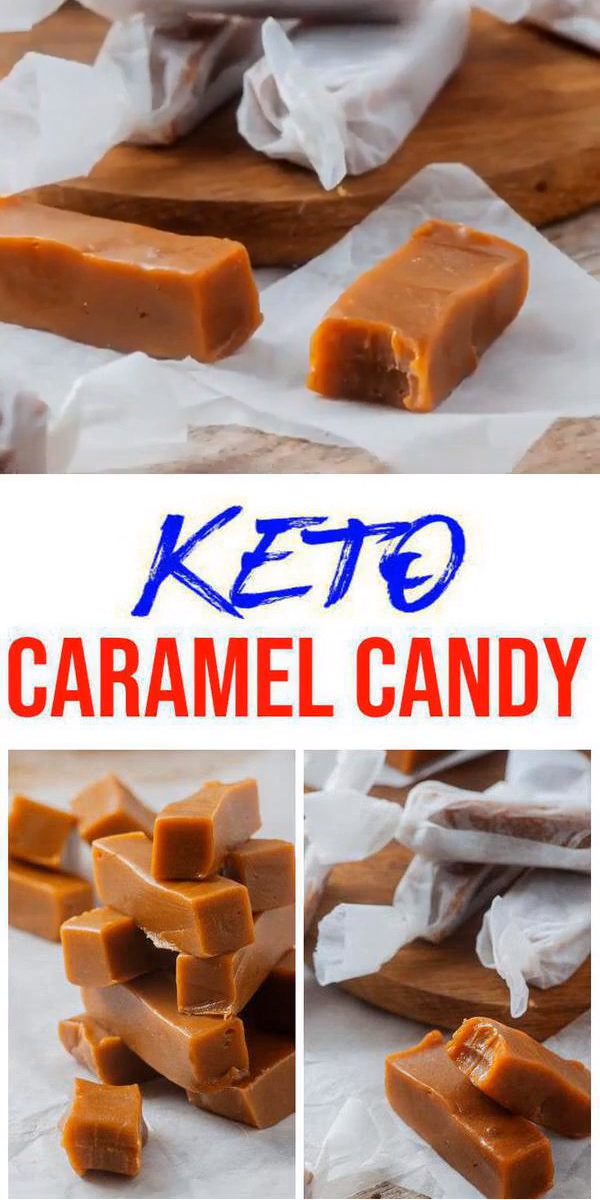 Keto Candy! AMAZING ketogenic diet candy - Easy caramel candies. BEST keto caramel candy for keto snacks or keto dessert. Try this simple & quick homemade keto caramel chewy candy no need to buy store bought with this low carb treats. No sugar, gluten free candy. Looking for keto candy recipes this is a must make - super tasty. So don't look to buy keto candy make DIY candy. #keto #candy #lowcarb - Check out this favorite keto food recipe :) #nocarbdiets