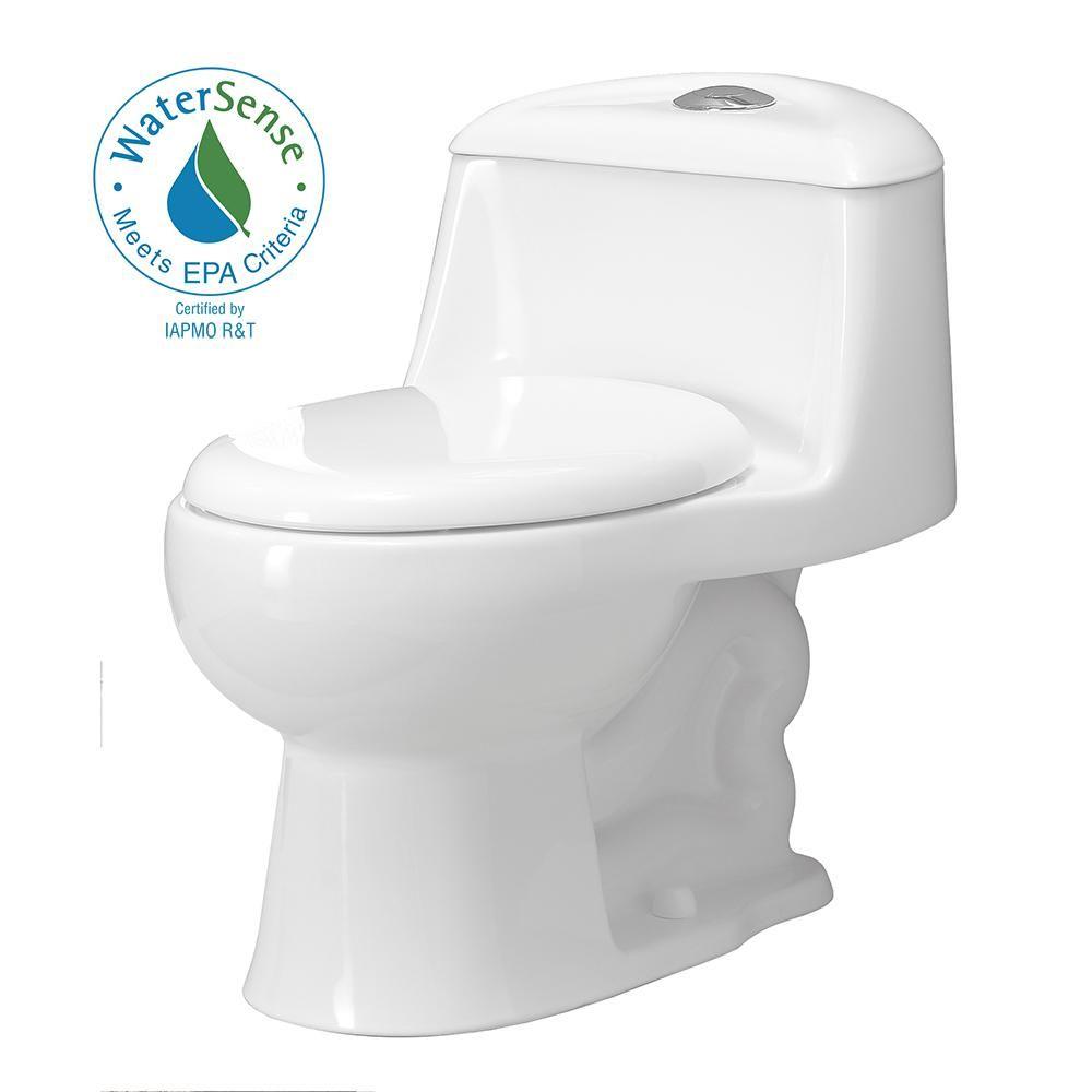 Foremost Gemini 1 Piece 1 1gpf 1 6 Gpf Dual Flush Round Toilet With Slow Close Seat In White Toilet Dual Flush Toilet Bidets