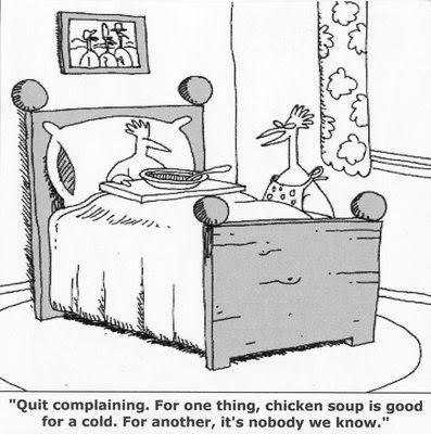 Chicken Soup Funny Joke Pictire Cartoon | Funny cartoons, Gary larson cartoons, Far side cartoons