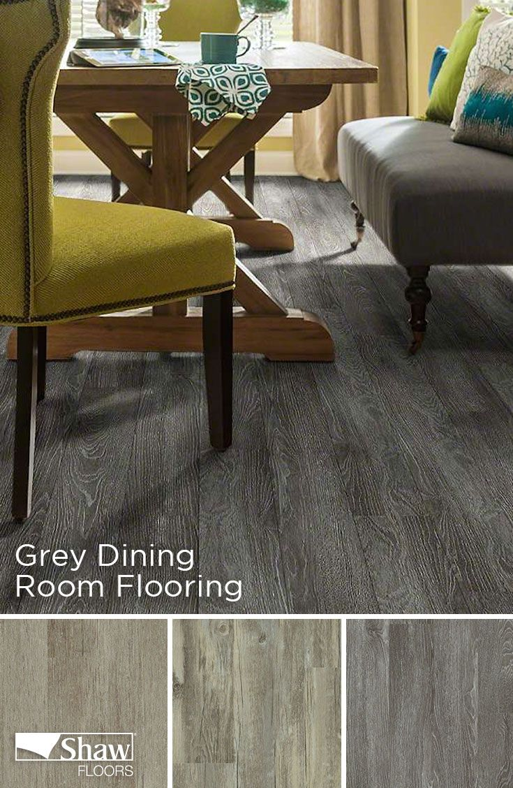 Accent Your Dining Room With A Beautiful Shade Of Grey Mantua Plank Flooring.  Mantua Plank