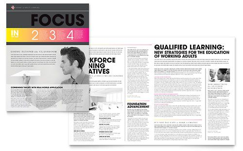 Adult Education  Business School Newsletter Template By
