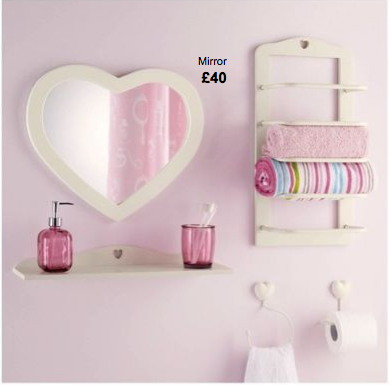 vintage bathroom style bathroom accessories in pastel colours from next