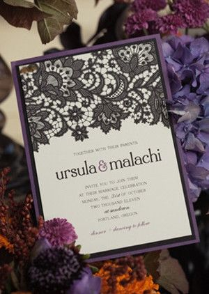 Trick Or Treat Halloween Inspired Wedding Ideas And Invitations
