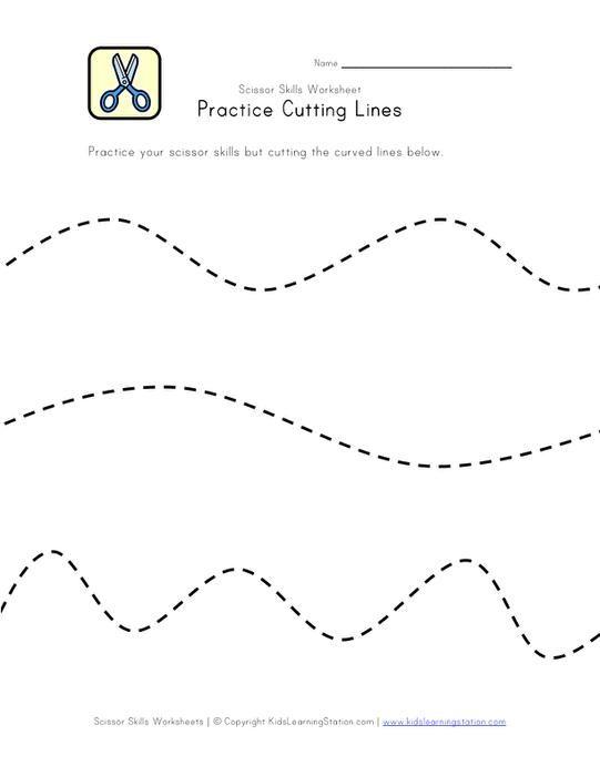 Pin On Crafty Kids Stuff Preschool shape cutting worksheets