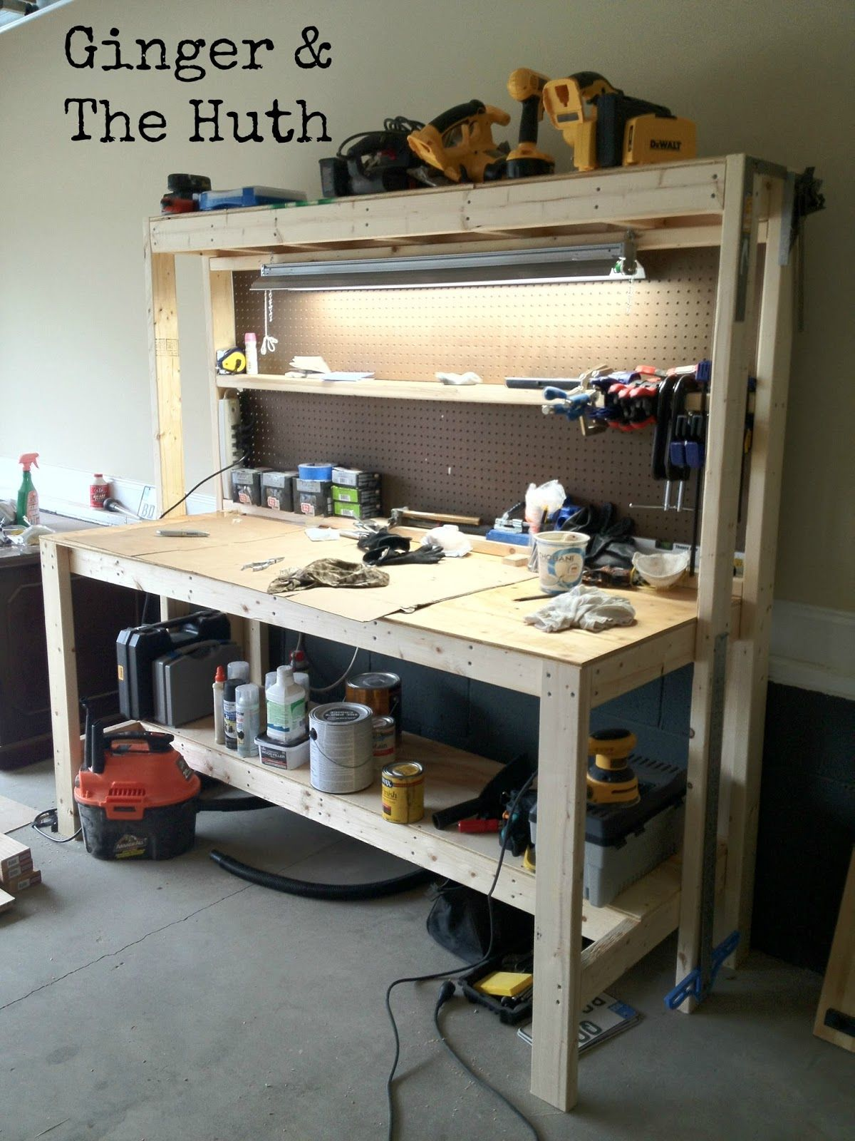 Ginger & The Huth DIY Work Bench complete instructions