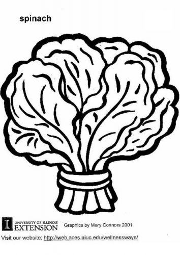 Spinach Head Vegetable Coloring Pages Coloring Pages Detailed