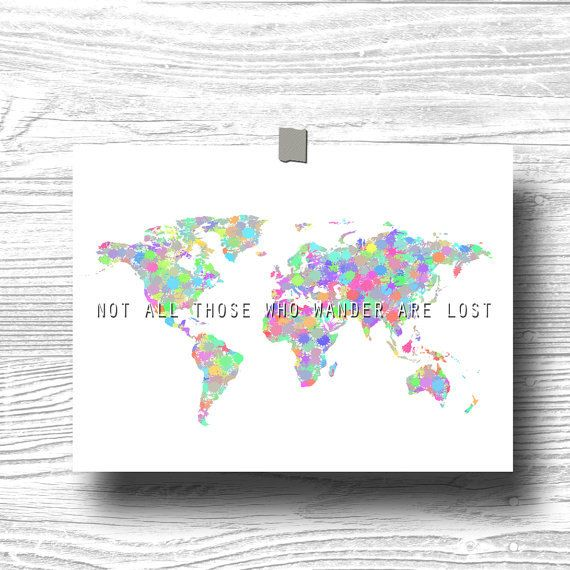 Not all those who wander are lost atlas world map by printpressfmt not all those who wander are lost atlas world map by printpressfmt gumiabroncs Image collections