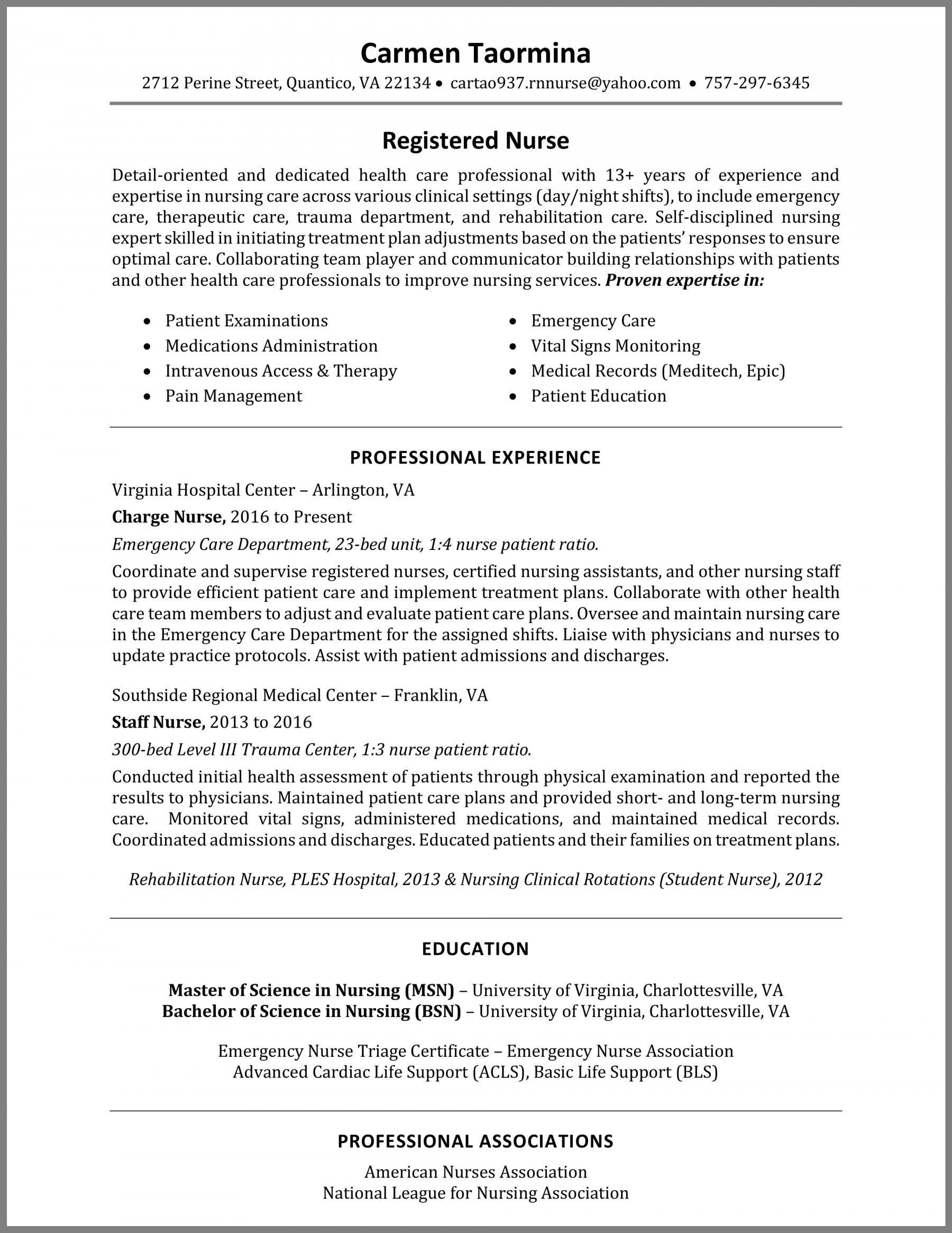 How To Write A Nurse Resume Example Nursing Resume Examples Registered Nurse Resume Nursing Resume Template