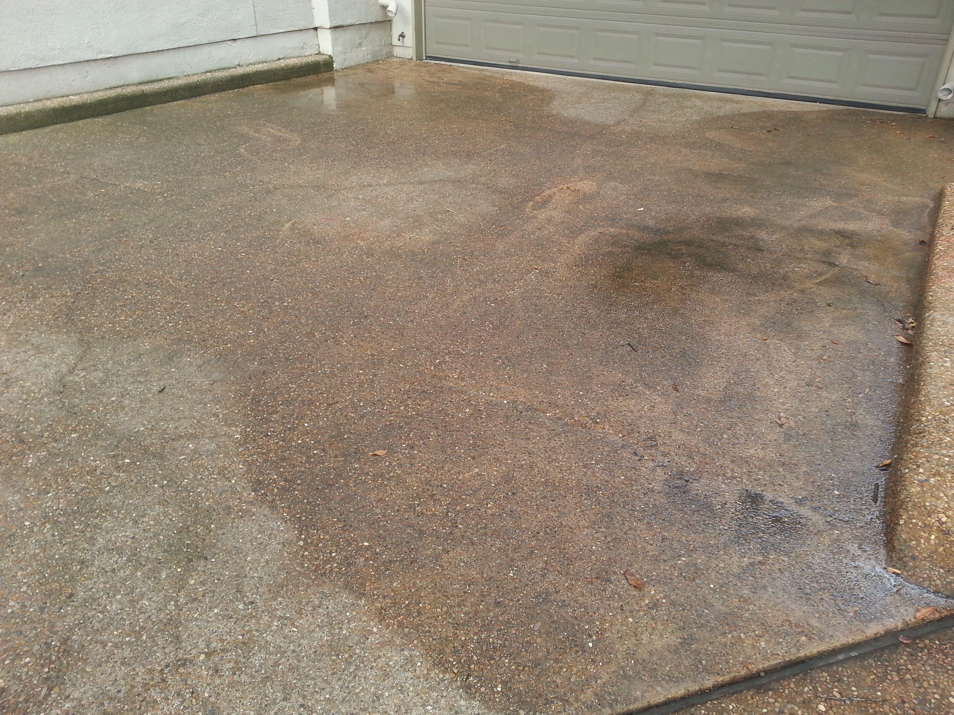 Pressure Washer On Driveway Pressure Washer Clean Concrete Washer