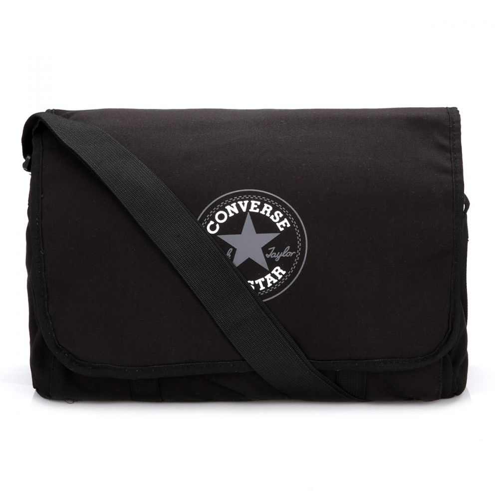 bd25f01fa420 Converse All Star Black Flap Messenger Bag