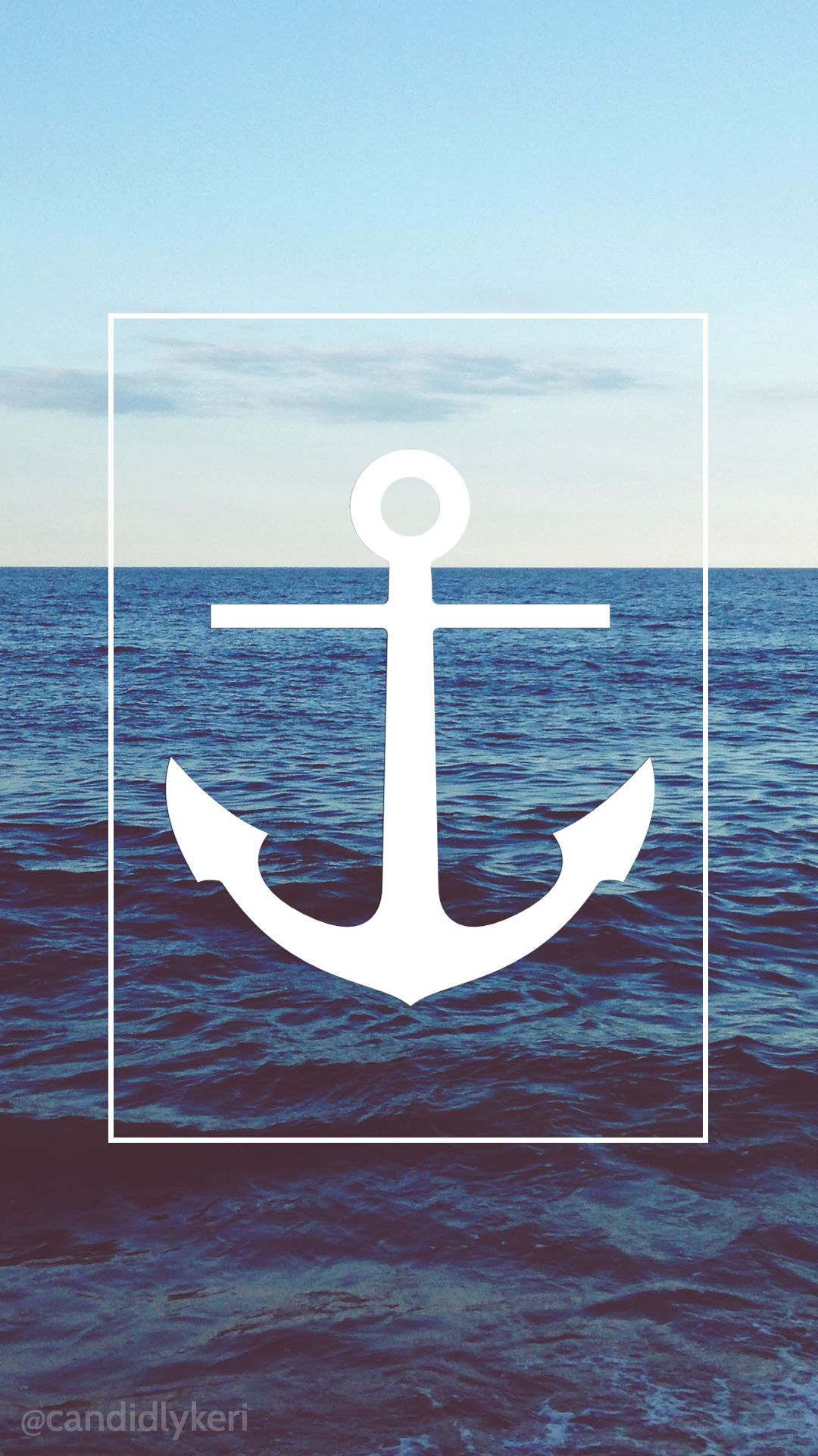 Sea Anchor Beach nautical wallpaper with black and white ...