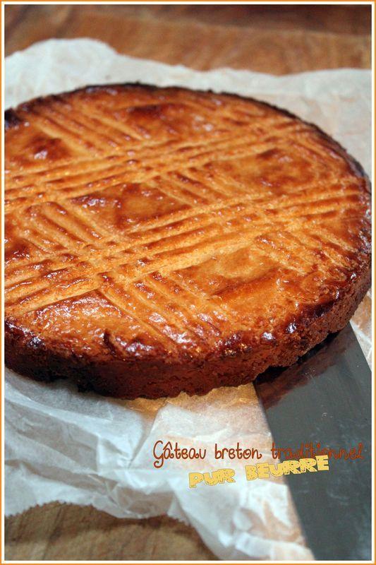 gâteau breton traditionnel, pur beurre | phares & bretagne