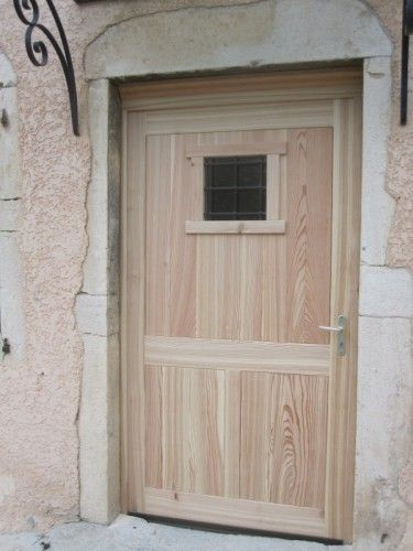 Porte d\u0027entrée bois naturel bois Pinterest