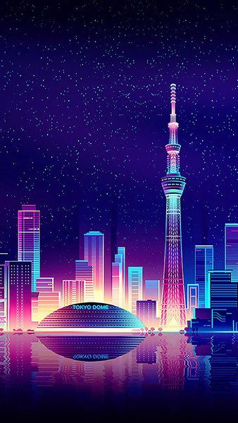 Tokyo Tower, Cityscape, Buildings, City, Digital Art, 4K ...
